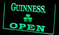 Wholesale Shamrock Light Sign - LS452-g Guinness Shamrock OPEN Neon Light Sign