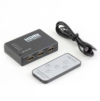 HDMI Splitter 5 in 1 out 1080p HDMI Switch Switcher Selettore Splitter Hub IR Remote per HDTV Audio Converter Switch HDMI Extend