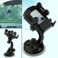 Wholesale car windshield suction mount holder stand for iphone for samsung for nokia for htc phones mobile cd car stand EN0820