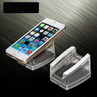 Wholesale Tablet Stands Holders - Transparent Acrylic mobile phone display stand Mount Holder for iphone Samsung Cellphone Tablet PC cell Phone good price