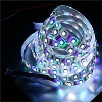 smd flex licht großhandel-5M 5050SMD RGB weißer LED Streifen RGBW RGBWW Flex LED streift 5M 300LEDS wasserdichte Schlauch-Silikon-12V DC Weihnachtsfeiertagslichter ab