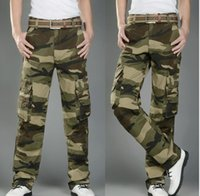Wholesale Cheap Cargos - Hot sale camouflage men trousers suspenders Cargo Pants cheap Pants Casual Trousers Outdoor Overalls low prices Army Pants
