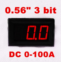 Wholesale high quality Red digital display inch bit DC A ammeter tester current Amp meter for car
