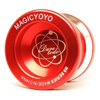 Wholesale Yoyo N8 - Wholesale-N8 Red Magic YoYo Alloy Aluminum Professional Yo-Yo Classic Toys Educational Toys For Players Hot Selling