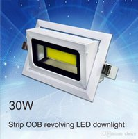downlight rectangular led al por mayor-2016 nueva llegada 30W 40W LED rectangular COB downlight LED IP65 AC85-265V que gira el reflector de aluminio de fundición a presión