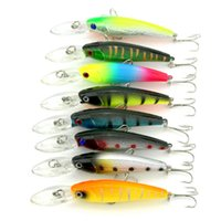 Wholesale Crank Baits Sales - HENGJIA 100pcs 90mm host sale Plastic Hard Bait Minnow Fishing Lures 9CM 8.3G 6# hooks baits Crank lures fresh water