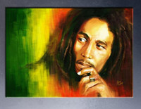 Wholesale Square Bob - free shipment Bob Marley Huge Art Giant Poster Wall Print Poster -3 wall Art Picture Paint on Canvas Prints P6