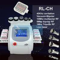 Efficiente 40k 6in1 diodo Lipo Pads Cavitaion Laser Fast Fat Burning Ultrasuoni vuoto RF Cura della pelle attrezzature di bellezza