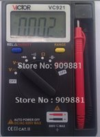 Wholesale Victor Vc921 Pocket Digital Multimeter - 100% Original Mini Victor VC921 3 3 4 Pocket Digital Multimeter Easy To Operation 100% Original High Quality Hot Selling