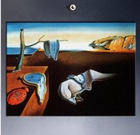 Wholesale Landscape Thick Paintings - Framed Salvador Dali The Persistence of Memory,Free Shipping,Genuine Handpainted Abstract Art oil Painting On Thick Canvas Multi Sizes