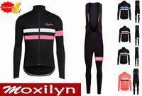 Wholesale Bike Jersey Bib Spring - custom Team Rapha cycling jersey bib pants sets Autumn Spring Tour de France Bisiklet wear bike maillot ropa ciclismo Bicycle MTB clothes