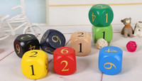 ingrosso grandi tavole di legno-30mm Big Dadi in legno Multi colorato in legno digitale Dices giocattolo educativo per bambini Family Party Board Game Aaccessori Buon prezzo # S67