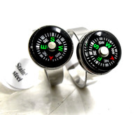Wholesale Door Gift Wedding - 2017 NEW 15pcs compass desgin out door camping men women stainless steel rings Wholesale Fashion Jewelry lots BRAND NEW