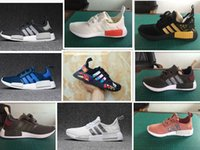 Wholesale Sequin Lace Mesh - 2017 NMD Runner R1 Primeknit White Red Blue NMD Runner Sports Shoes Men Woman NMD shoes boost Sequins Running shoes EUR 36-44