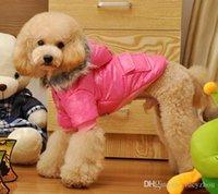 Wholesale Cheap Good Winter Coats - Dog Fancy Coat Warm Winter Dog Sweater Cheap Pet Jumpsuit Hooded Coat Vest Jacket Good Quality 5 Size 4 Color Min Order 25PCS