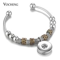 Wholesale Round Brass Metal Beads - VOCHENG NOOSA Snap Charms Bangle Open Metal Round Beads 18mm for Women NN-537