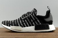 Wholesale Japanese Cotton Shoes - New arrival NMD_R1 Japanese OFF White Running Sneakers Fashion Running Shoes NMD r1 r2 Runner Primeknit ultra boost Sneakers Khaki