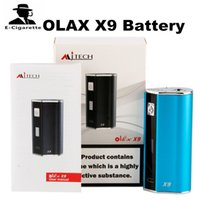 Wholesale Lcd Atomizers - Original Mjtech OLAX X9 Battery Built-in 1500mhA Vape Mod with LCD Display Fit 510 Thread RDA Atomizer 2263002