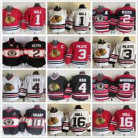 Wholesale Pierre Pilote - Throwback Chicago Blackhawks 1 Glenn Hall 2 Duncan Keith 3 pierre pilote 4 Orr 8 Mosienko 10 Sharp 16 Bobby Hull Red Ice Hockey Jerseys