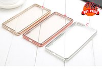 Wholesale Huawei Ascend Honor Cases - Electroplate Bling Soft TPU Case Clear Transparent For Huawei Ascend Mate 9 7 8 S P8 Lite P9 Honor 4A 4X 4C 5X 5C 6PLUS 7 7I Phone Cover