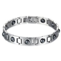 Wholesale Magnetic Stone Price - Healing Stainless Steel with big magnetic stone magnet Bracelet 12mm Healthy for body factory wholesale price