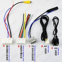 Wholesale 5Pcs Pack Suit CAR STEREO CD PLAYER WIRING HARNESS ADAPTER PLUG FOR Nissan Teana X Trail Qashqai OEM Factory Radio CD SKU