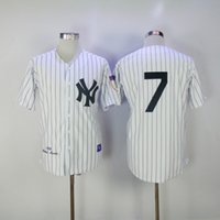 Wholesale New Jersey Yankees - New 1951 Yankees Mickey Mantle Throwback Jersey #7 White Stripe Home Stitched Baseball Jerseys Size 40-56 Mix Order All Jerseys