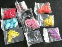 renk ucu akrilik çivi toptan satış-1000Pcs Karışık Renkli Fransız Sahte Çivi Çivi Akrilik İpuçları