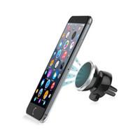 telefon auto magnethalter großhandel-Autohalterung Universal 360-Grad-Drehung Magnetische Auto-Stand-Halter-Berg-Magnet für Iphone Samsung XIAOMI Handy GPS