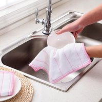 Wholesale Bamboos Wipes - High Efficient Anti-grease Color Dish Cloth Bamboo Fiber Washing Towel Magic Kitchen Cleaning Wiping Rags