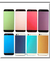 Wholesale Back Cover Housing Iphone5 - For iphone5 Colorful Replacement No Any Scrach A+++ Metal Back Battery Housing Cover Hard Case for iphone 5 5g 5s