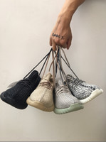 Wholesale 13 Wide - With Box PU&Wide kamatiti 350 Boost Shoes Boost 350 Oxford Tan 2016 New Color Kanye Milan West Boost 350 Tan with sock keychain. size 13