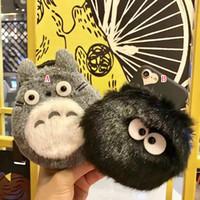 Wholesale Silicone Black Love Dolls - For Iphone7 Iphone 8 7 7G 6 6S Plus 3D Totoro Plush Doll Coin Soft TPU Case Bag Briquette Cartoon Cute Fur Fuzzy Zipper Love Hole Skin Cover
