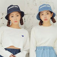 Wholesale Mixed Women Jeans - 2 Color Jeans Bucket hats Buckets caps Bucket Hats Baseball Caps Cap Snap Back Snapbacks Hat High Quality Mixed Order F239