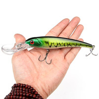 Wholesale Deep Diving Minnow - 16.5cm 29g Big Minnow Fishing Lures Deep Sea Bass Lure Artificial Wobbler Fish Swim Bait Diving 3D Eyes