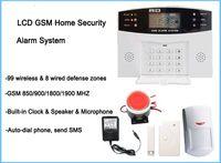 Wholesale gsm alarm sms control - Cheap classic App control wireless wired SMS GSM alarm system,Quad-band GSM home security alarm system,home auto-dial burglar alarm system
