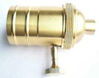 Wholesale Brass Bases - Loft Vintage Retro Edison socket holder E26 110V 220V knob switch Brass Lamp Bases @ Lamp Holders