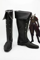 Wholesale Black Hunter Boot - Wholesale-Monster Hunter Deviljho Cosplay Boots shoes #MM154 new version New Custom made
