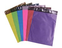 Wholesale Envelope Pouches - 26x37cm 10.24x14.57inch [60pcs] Free Shipping color Express Bag Poly Mailer Mailing Bag Envelope Self Adhesive Seal Plastic pouch