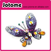 Amethyst Purple Butterfly Brosche