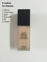 makeup mineralize foundation بالجملة-1 قطع لينة ماتي كل يوم ماركة المكياج مضيئة المعادن الأساس السائل مؤسسة الأساس 6 الظلال maquiagem