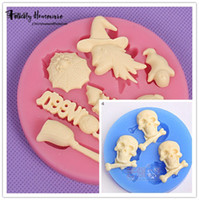 Wholesale Bakery Set - 2016 Now Halloween Cake Decorated Mold-Halloween Theme Silicone Mold Set-Bakery Mini Muffin Decorating Tools Cake Decorating Tool Soap Molds