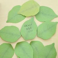 conjunto de papel de nota al por mayor-10 sets Cute Kawaii Leaf Memo Pad Sticky Post Note Paper Sticky Bloc de notas Papelería Para Niños Estudiantes Oficina Proveedor