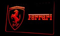 Wholesale R Keyboard - Ls215-r-Ferrari-Neon-Light-Sign Decor Free Shipping Dropshipping Wholesale 6 colors to choose