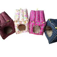 domuz tavşan oyuncak toptan satış-Hamak Asılı Yatak Pamuk Oyuncak Ev Kafes Tavşan Gine Domuz Ferret Yüzükler ve Klipler ile Küçük Hayvanlar