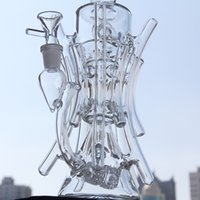 Wholesale hill oil - Two function New recycler glass bong hot bongs roots water pipe boro bong Hill side glass oil rig break dab dabs recycler Killa glass
