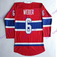 Ice Hockey spun laced - Cord NHL Montreal Canadiens SHEA WEBER Lace Red Hockey Jerse Stitched Mix Order