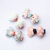 Wholesale Headwear Styles - 20pcs lot Modish Girls Bow Hair Bowknot Hairpin Baby Girls Headwear Kids Party Hair Accessories Summer Style Hair Clip 2017 New