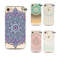 flores da arte do iphone venda por atacado-Phone case para iphone 7 colorido desenho flor tpu móvel proteger shell capa do vintage art design