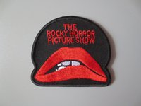 Wholesale Quilt Pictures - Dark Gothic Deadly lips Rocky Horror Picture Show Embroidery Polyester Patches